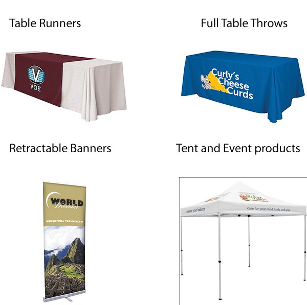 Event Tents and Trade Show Table Covers